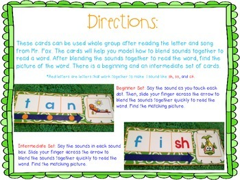 What Does the Fox Say? Phoneme Blending