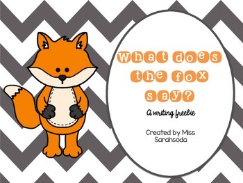 What Does the Fox Say? Writing Freebie