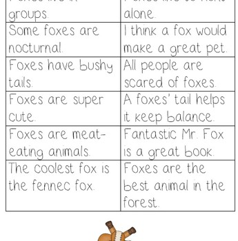 What Does the Fox Say fact and opinion