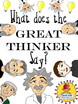 What Does the Great Thinker Say? Printable Game {Hello Indoor Recess!}