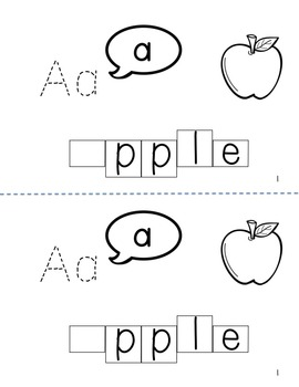 What Does the Letter A Say? Trace and Write Book for Letter-Sound Correspondence