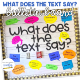 What Does the Text Say? {Bulletin Board}