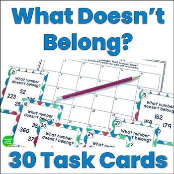 Math Activity What Doesn't Belong Scavenger Hunt