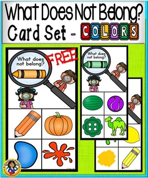 What Doesn't Belong Card Set ~ COLORS {FREE}
