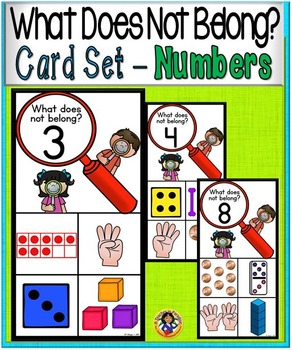 What Doesn't Belong Card Set ~ NUMBERS