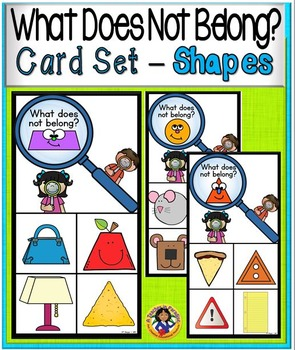 What Doesn't Belong Card Set ~ SHAPES