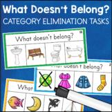 What Doesn't Belong? Category Elimination Tasks & Worksheets Speech Language