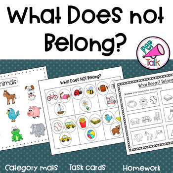 What Doesn't Belong (Category Mats, Task Cards, and Homework)