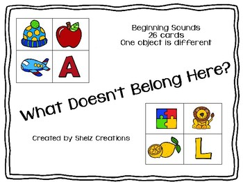 What Doesn't Belong Here? - Beginning Sounds