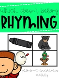 What Doesn't Belong? Rhyming Words Clip Cards