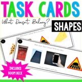 Shapes - What Doesn't Belong? Visual Discrimination Digital Cards