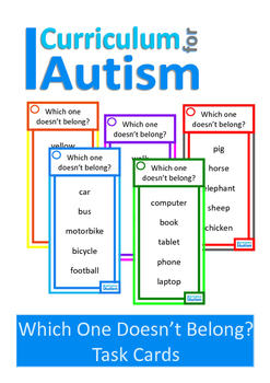 Autism Categories, What Doesn't Belong? Special Education, Speech Therapy