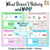 What Doesn't Belong and WHY Boom Cards (category, attribut