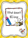 What Doesn't BEE-long? - Category Exclusion {Printable}