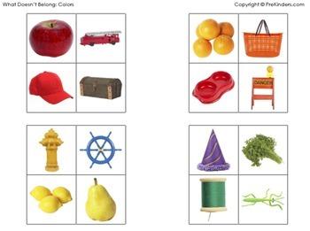 What Doesn't Belong: Colors (Visual Discrimination Skills, Pre-K)