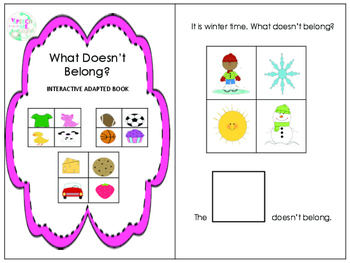 What Doesn't Belong?: Interactive Adapted Book & Game