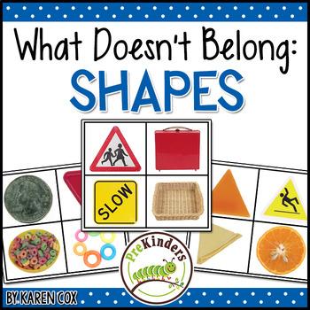 What Doesn't Belong: Shapes (Visual Discrimination Skills, Pre-K)