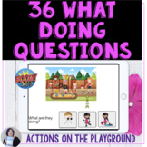What Doing Questions in Scenes BOOM Cards Telepractice Spe