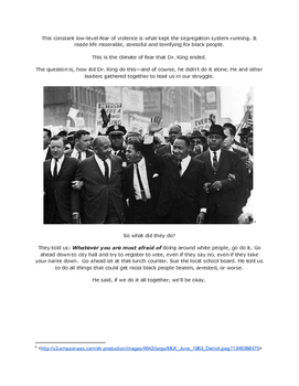 What Dr. King Really Did: Close Reading Source