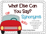 What Else Can You Say? A Synonym Write the Room Activity