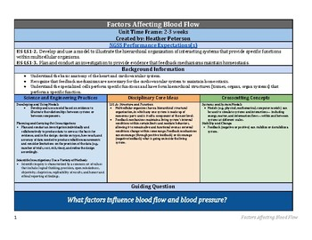 What Factors Affect Blood Flow?  NGSS 5E Lesson