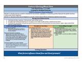 What Factors Affect Blood Flow?  NGSS 5E Lesson