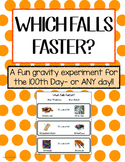 What Falls Faster? An experiment in gravity - great for journals!