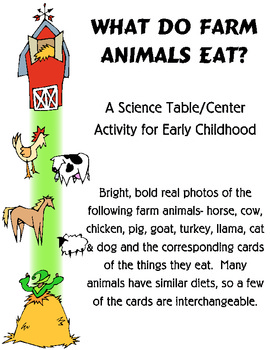 What Farm Animals Eat Matching Science Activity