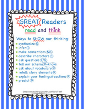 What GREAT Readers Do Classroom Printable