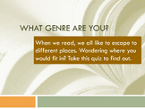 What Genre are You? (Book Personality Quiz) and Book Speed Dating