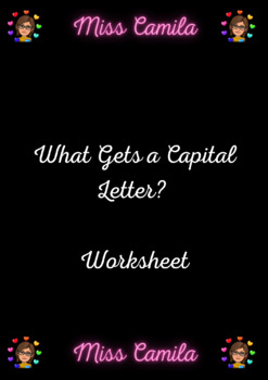 What Gets a Capital Letter Worksheet
