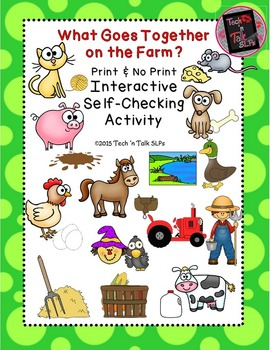 What Goes Together on the Farm - Interactive Self-Checking Activity