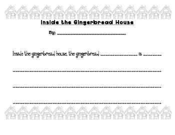 What Goes on Inside the Gingerbread House Writing Craftivity