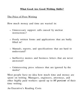 What Good Are Good Writing Skills?