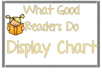 What Good Readers Do Display Chart