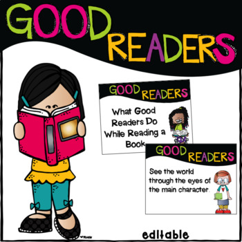 What Good Readers Do While Reading- Editable