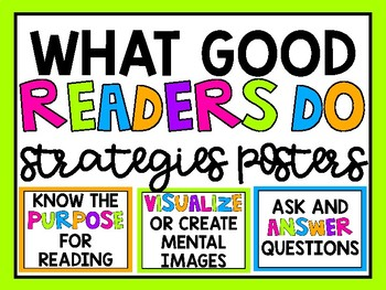 What Good Readers Do Strategies Posters