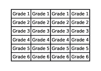 What Grade Are You In? Speaking activity Bingo