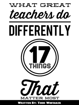 What Great Teachers Do Differently posters