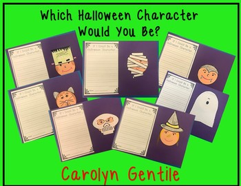 What Halloween Character Would I Be?  Writing and Craft Activity