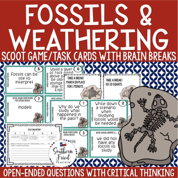 Fossils and Weathering Scoot Game/Task Cards