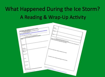 What Happened During the Ice Storm by Jim Heynen Student Guide