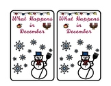 What Happens in December Vocabulary book