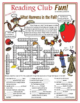 What Happens in the Fall? (Crossword Puzzle)