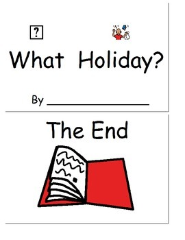 What Holiday? Take home book, wh-questions