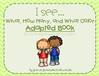 What, How Many, What Color Adapted Book