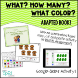 What, How Many, What Color? Adapted Book Autism/SpEd/Kinde