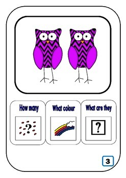 What? How many? colour? for students with Autism