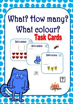 Math Task cards - Number and colour recognition!