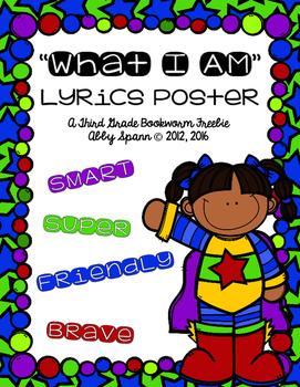 """What I Am"" Lyrics Poster {FREEBIE}"